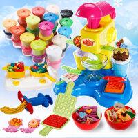 儿童手工制作橡皮泥3d彩泥无毒模具工具套装冰淇淋雪糕机女孩玩具