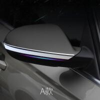 适用于 奥迪A6L后视镜贴装饰亮条 倒车镜防刮条 新A6L装饰改装 【A款】ABS 亮光银 2件套