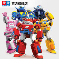 奥迪双钻儿童礼物超级飞侠玩具变形机器人套装乐迪小爱多多警长