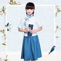 民国风儿童古装女童六一民国学生五四青年运动会班服合唱演出服装