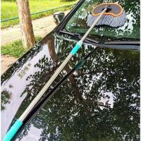 长柄可伸缩线洗车拖把汽车用品洗车刷子刷车拖把套装清洗工具 线(1.2米可伸缩的)