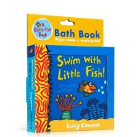 【全店300减100】英文原版 Swim with Little Fish! 和小鱼一起游泳 儿童洗澡玩具布书 英语启蒙
