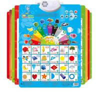 乐乐鱼认知有声挂图全套幼儿童凹凸识字卡宝宝玩具发声语音早教书