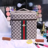 化妆包韩国大容量便携手提多层化妆品收纳包防水洗漱包