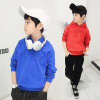 男童卫衣春装新款儿童连帽打底衫韩版中大童小孩套头春款休闲