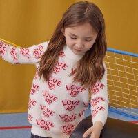 【1件5折价:119.5,可叠券】moomoo童装女童毛衣冬季中大儿童休闲套头衫