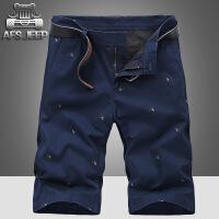 afs jeep夏装男沙滩裤吉普骑士印花休闲短裤薄款时尚短裤头97726