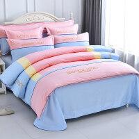 床单被罩被套四件套纯棉 1.8m床 双人1.5m床4件套 床上用品四件套