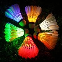2018072012502436310只装耐打LED夜光带灯发光发亮羽毛球夜用娱乐变色闪光鹅毛球