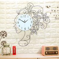 钟表挂钟客厅大时尚创意欧式时钟现代简约卧室静音石英钟个性挂表 20英寸(直径50.5厘米)
