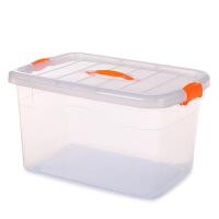 大小号塑料收纳箱有盖透明衣物整理箱车载储物箱周转箱收纳盒