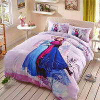 卡通四件套 冰雪奇缘爱莎被套床单儿童三件套3D纯棉床上用品
