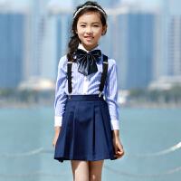 儿童演出服小学生班级大合唱表演服男童女童礼服套装背带裤园服3223