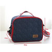 装饭盒袋的手提包圆形保温盒饭袋提碗袋小学生带饭包包便当盒袋子