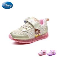 迪士尼Disney童鞋18新款儿童运动鞋时尚公主休闲鞋女童舒适透气跑步鞋(5-10岁可选) DS2772
