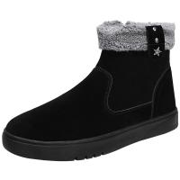 冬季韩版潮流男鞋子雪地靴男冬季保暖加绒棉鞋男士中帮马丁靴潮鞋