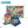 若态蓝卡纸质千片拼图1000 2D儿童益智平面拼图若态原创系列