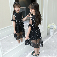 女童连衣裙新款儿童夏装裙子女孩圆点公主纱裙洋气裙子