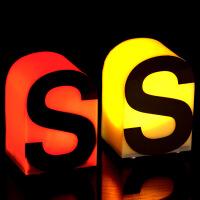 LED充电台灯 创意字母亚克力桌灯 LED七彩发光酒吧台灯