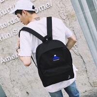 男生双肩包潮韩版大学生书包日韩时尚潮流电脑背包大容量旅行书包