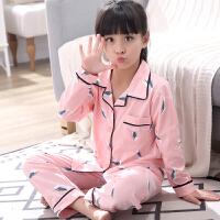 女童睡衣长袖春秋夏季薄款卡通可爱中大童公主宝宝家居服套装