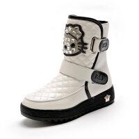 女童靴子2018秋冬季新款韩版公主童鞋儿童小短靴女孩短靴加绒棉靴