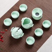 白领公社 茶具套装 冰裂陶瓷加厚耐高温大容量过滤式功夫茶杯6人办公家用简约泡茶壶茶具