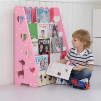 【每满100减50】物有物语 儿童书架 宝宝卡通绘本架家用儿童书架幼儿园小孩简易塑料图书架