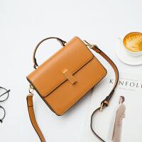 简约小包包新款韩版潮女包手提包OL通勤时尚斜挎包棕色风琴包 棕色 少量