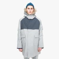 2018新款棉衣男 韩版潮牌男士中长款外套冬款学生连帽 灰色