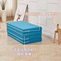 20190214083300440海绵垫折叠床垫榻榻米办公室午睡垫学生宿舍单人午休便携地铺睡垫