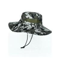 帽子男夏天韩版潮太阳帽迷彩渔夫帽钓鱼帽遮阳帽防折叠xx M(56-60cm)