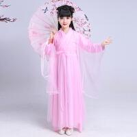女童中国风汉服 儿童改良古装公主仙女服装 小孩清新淡雅古代衣服