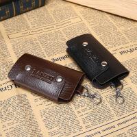 男士钥匙包腰挂零钱包卡包韩版男女式汽车锁匙包韩版多功能s6 黑色