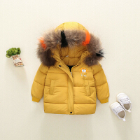 女童羽绒加厚中长款韩版儿童冬装棉袄宝宝棉衣中小童连帽外套