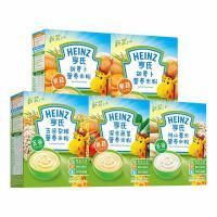 亨氏米粉 婴儿全素营养米粉225g*5(五谷+胡萝卜+混合蔬菜+薏米+黑米红枣) 宝宝辅食