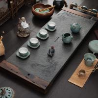 乌金石茶盘家用茶具套装简约茶海大号客厅电磁炉一体石茶台