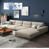 客厅极简轻奢可拆洗沙发组合北欧布艺沙发简约现代大小户型 o1n