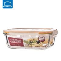 乐扣乐扣耐热玻璃饭盒保鲜盒便当盒密封碗大容量微波炉烤箱可用630ml【长方形】