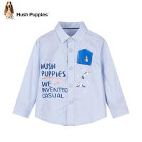 【2件5折:119元】暇步士童装儿童尖领时尚衬衫男童新款中大童衬衣上衣