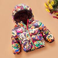 新款童装女童冬装儿童羽绒服男童韩版中小童棉衣宝宝棉袄