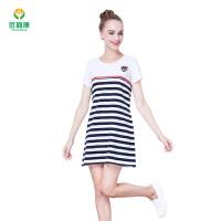 孕妇装中长款新款韩版哺乳孕妇裙短袖防辐射连衣裙长袖 +防辐射内胆