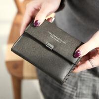 女士钱包女短款日韩版新款简约翻盖三折多功能学生皮夹子