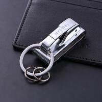 穿皮带钥匙扣男士腰挂腰带汽车钥匙链挂件金属腰式扣创意锁匙圈环