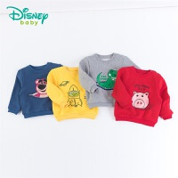迪士尼Disney童装 男孩圆领抓绒卫衣2019秋季新品玩具总动员印花上衣舒适193S1231