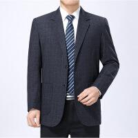 秋装新款中年休闲西装外套男士商务便西单西男中老年西服单件上衣