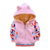 女童秋装外套儿童女宝宝加绒5小婴儿冬装加厚1洋气2公主4韩版3岁