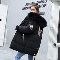 冬季女中长款韩版羽绒棉衣加厚韩版少女学生外套bf潮