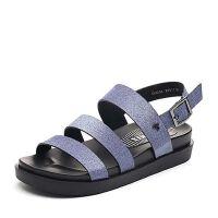 Teenmix/天美意2018夏专柜同款多条带厚底平跟女凉鞋CDC04BL8