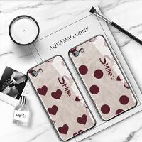 苹果6splus手机壳复古波点iPhone6个性创意防摔玻璃壳6s全包红色时尚爱心硅胶软壳6plus